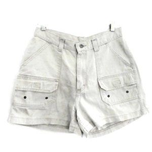 Lee Riveted Jean Shorts Vintage High Rise Cargo M